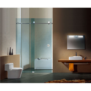 stainless steel shower glass sliding door system bathroom fittings