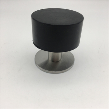 floor mounted Rubber stainless steel door stopper with 3M adhesive