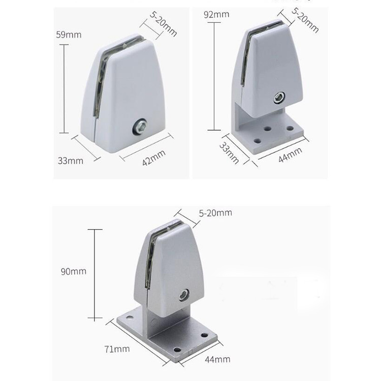 Aluminum Alloy Protective Barrier Clamps for Clear Desk Panel Guard Stand