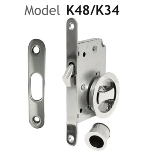 Zinc Alloy Satin Nickel Sliding Door Lock