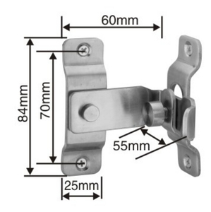 Big Size 90 Degree Stainless Steel Slide Bolt Door Safety Guard Latch