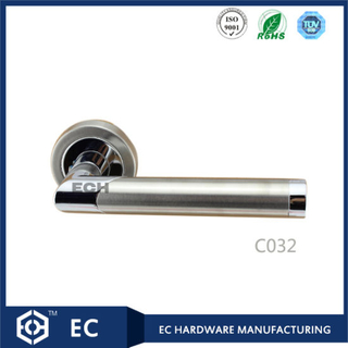 Chrome Finish Zinc Alloy Room Door Handle (C032)