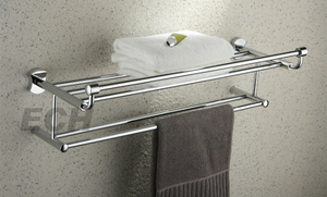 Stainless Steel Double Towel Shelf (GHY-8990)