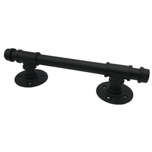 Pipe Barn Door Handle Black Rustic Industrial Grab Bar Towel Bar Handrail And Pull for Stairs Gate Garage