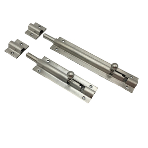 Stainless Steel Tower Bolt Latches Bolts Sliding Lock Door Barrel Bolt Lock with Screws