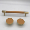 Brass Single Hole Pull Wardrobe Cabinets Handles Leather Knob