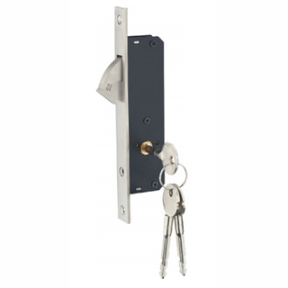 Stainless Steel Hook Cabinet Sliding Door Lock with Key