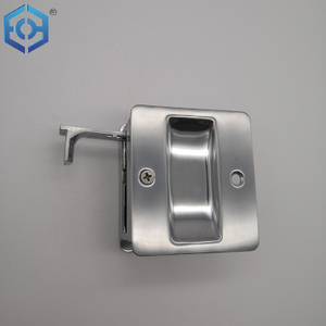 Sliding Door Lock Brass Pocket Door Pull with Privacy Lock