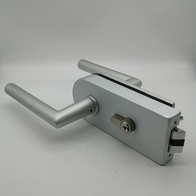 Popular Aluminum Allloy Double Door Glass Door Lock with Key