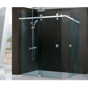 SUS304 sliding door fitting for 8-10mm frameless glass shower door