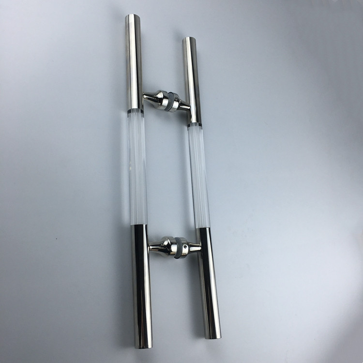 Silver Stainless Steel And Plastic Antique Door Hardware Large Exterior Bathroom Door Pulls Handles