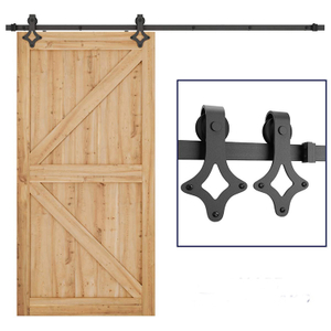 Modern Interior Solid Wood Sliding Pocket Door Barn Door Hardware