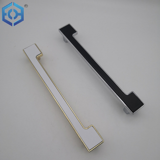 White Or Black Chrome Zinc Alloy And Plastic Factory Price Cabinet Handle