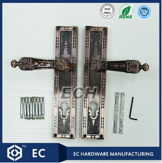 Zinc Alloy Antique Square Palte Door Handle (3759)