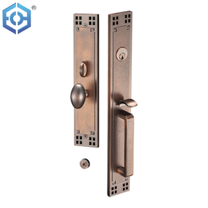 Dim Antique Copper zinc alloy entry door lock luxury designed style door lock for entry door