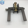 Black Zinc Alloy Wholesale Factory Lever Square Investment Solid Silent Metal Door Handle Lock