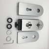 Popular Lockstitch Aluminum Alloy Silent Glass Door Lock