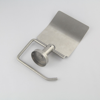 Brushed Nickel Stainless Steel Round Solid Material Toilet Paper Holder