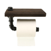 Iron Water Pipe Shelving Toilet Paper Holder Creative