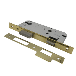 Stainless Steel 304 Golden PVD Euro Door Lock Body Mortise Lock