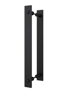 "14"" Steel Rustic Black Barn Door Handle and Pull"