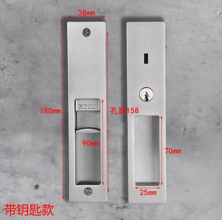 SN Zinc Alloy Wooden Indicator Interior Sliding Patio Door Lock with Key