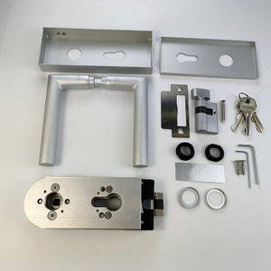 Commercial Gate Office Aluminum Stainless Steel Security Glass Door Lock