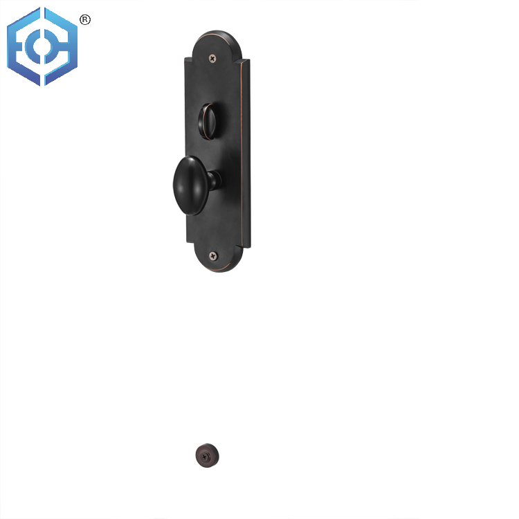 Black Solid Zinc Alloy Security Key Keyed Entry Door Lock And Lever Door Handle For Interior Door