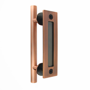 AC Steel Heavy Duty Pull And Flush Door Handle Set Sliding Barn Door Handle