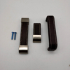 OEM 2020 Newest Zinc Alloy And Leather Brown Knurled Furniture Handles for Cupboard Kitchen Door