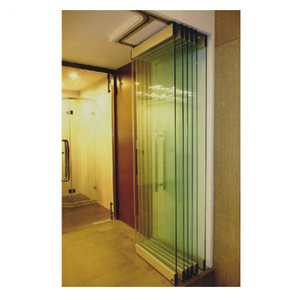 Top sell commercial used bi fold screen door frameless glass folding door