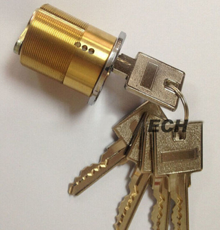 Made in China Hardware American Brass Cylinder Lock