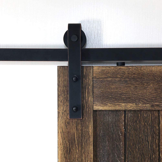 ORB Powder Coated Iron Antique Style Wooden Sliding Barn Door Hardware