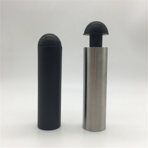 Black Or SSS Construction Heavy Duty Bedroom Floor Mounted Glass Door Stop Hollow Stainless Steel Door Stopper