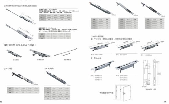 High Quality (DBE-032) SSS Stainless Steel Fire Door Bolt