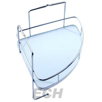 Stainless Steel Bathroom Glass Corner Shelf (GHY-8976)