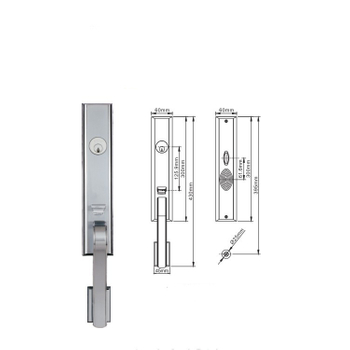 European Style American Standard Metal 304 Stainless Steel Main Entrance Door Handle Lock