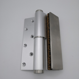 silver aluminum heavy duty adjust single action Soft-closing Hydraulic Glass Door Hinge Door Closer Hinge