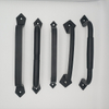 Hot Sale New Design Cast Aluminum Black Heavy Duty Solid Square Barn Door Handle