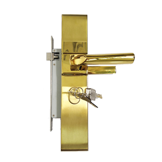 Golden Southeast Asia Style Stainless Steel Combination Door Lock