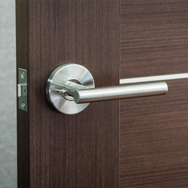 Modern Product Stainless Steel Door Lever, Door Handle Privacy/Passage Universal Non Handed Lever Set