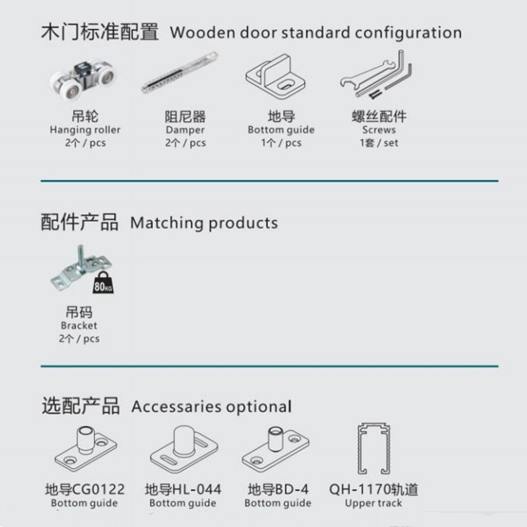 Double Soft Closing System for Sliding Door Balance Running