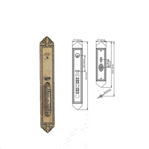 Zinc Alloy Entry Door Lock Set Security Lock Door Entrance Door Lock