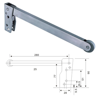 Pss Stainless Steel 304 Door Closer Door Selector (L-Shape)