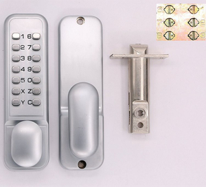 keyless mechanical combination password door digital lock with knob handle