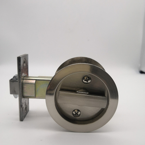 SN zinc alloy round sliding door lock without keyword bathroom door lock bk