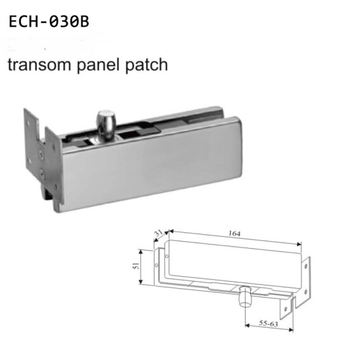 Stainless Steel Upper Glass Door Patch Fitting