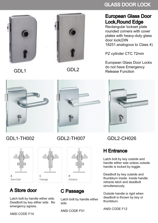 stainless steel glass door patch fitting