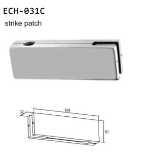 China manufacturer large glass door patch fitting
