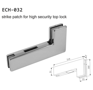 Bottom aluminium glass door frameless glass door patch fitting